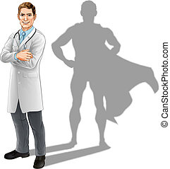 Hero Doctor - Hero doctor concept, illustration of a...