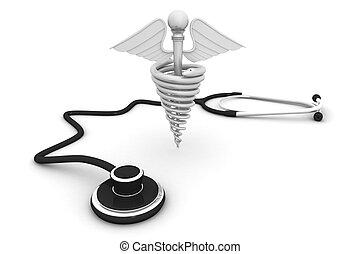 Medical symbol with Stethoscope