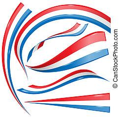 france flag set isolated on white background