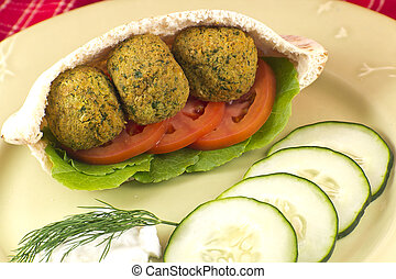 Falafel in a Pita Pocket - Fresh and healthy falafel with...