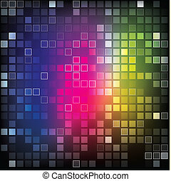 Abstract shiny rectangles background - illustration