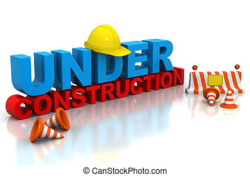 Under construction concept