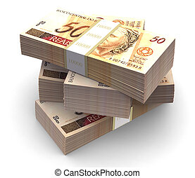 Brazilian currency pack - Brazilian currency bills packs on...