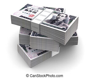 Yen Bills Packs (with clipping path)
