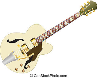 guitar - Pattern of color electric guitar for design use