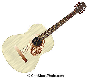 acoustic guitar - Pattern of color acoustic guitar for...
