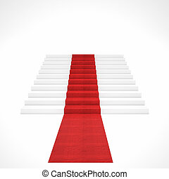 red carpet stair