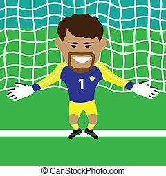 Goalkeeper - goalkeeper vector illustration