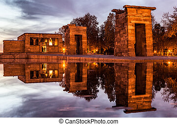 Temple of Debod, Madrid.