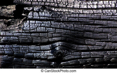 Burned Wood Texture - Abstract Burned Wood Texture...