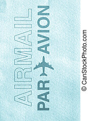 Airmail - Postage letter envelope for air mail shipping -...