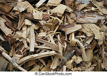 Wood chips - Background of Wood Chips texture.