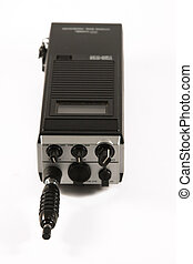 Portable CB radio - Citizen band radio against white...