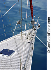 prow of a sailboat