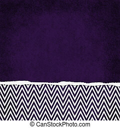 Square Purple and White Zigzag Chevron Torn Grunge Textured...