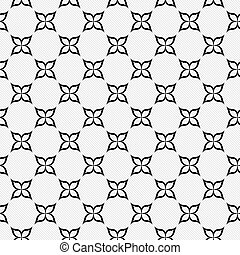 Black and White Flower Repeat Pattern Background that is...