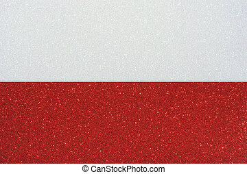 ensign poland - the ensign of poland made of twinkling...