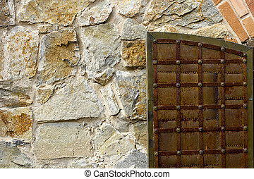 Roughly hewn stones - Background of roughly hewn stones and...