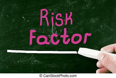 rischio, factor, concetto