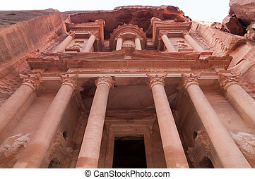 Al Khazneh - Treasury, Petra - Al Khazneh in Petra, Jordan....