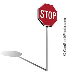 traffic sign stop 3d illustration