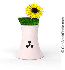 no nuclear energy - 3d Illustration symbolizing concept...