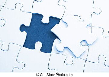 blank puzzle with missing piece - blank and white puzzle...