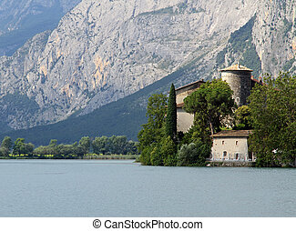 Lake Toblino with the historic castle on the shore