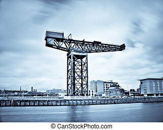 Glasgow clyde river - Infrared picture of Glasgow clyde...