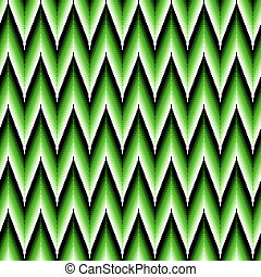 Seamless pattern with green zigzag elements - Seamless...