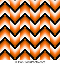 Seamless pattern with orange zigzag elements - Seamless...