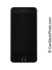 Black mobile smartphone