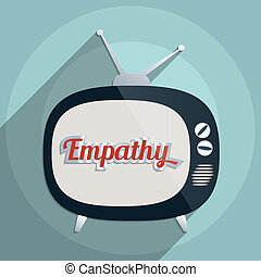 Empathy - Concept for support, charity and giving help Flat...