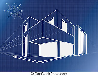 Architectural background, vector