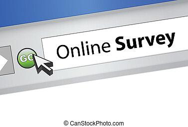 online survey computer browser illustration