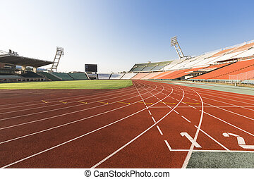 athletics track - one dissolves stadium the orbit of...