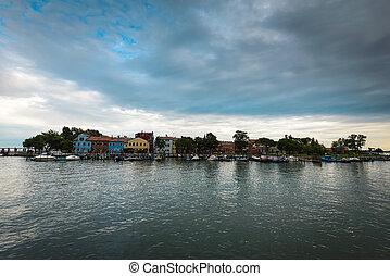 Burano island -view from Mazzorbo,Venetian Lagoon,Italy