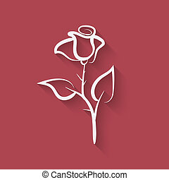 rose flower symbol - vector illustration eps 10