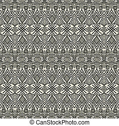 hand drawing ethnic pattern - vector illustration eps 8