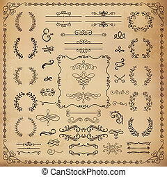 Vintage Hand Drawn Design Elements - Vintage Hand Drawn...