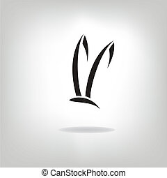 Image of an rabbit on white background - Vector image of an...