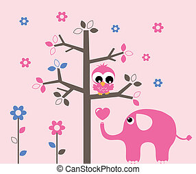 wall decoration or greeting card