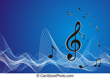 Music sheet (vector) wave