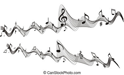 Music sheet vector wave