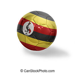 Ugandan Football - Football ball with the national flag of...
