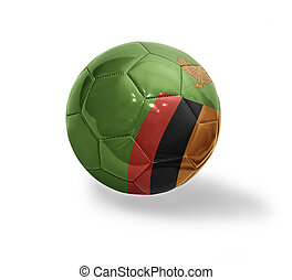 Zambian Football - Football ball with the national flag of...