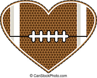 football heart design