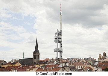 Television tower of Prague, Czech Republic, landscape view