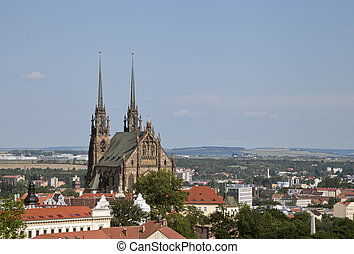 Peter and Paul cathedral in Brno, Czech Republic