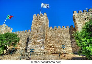 Castle Sao Jorge in Lisbon, Portugal - Saint George castle...